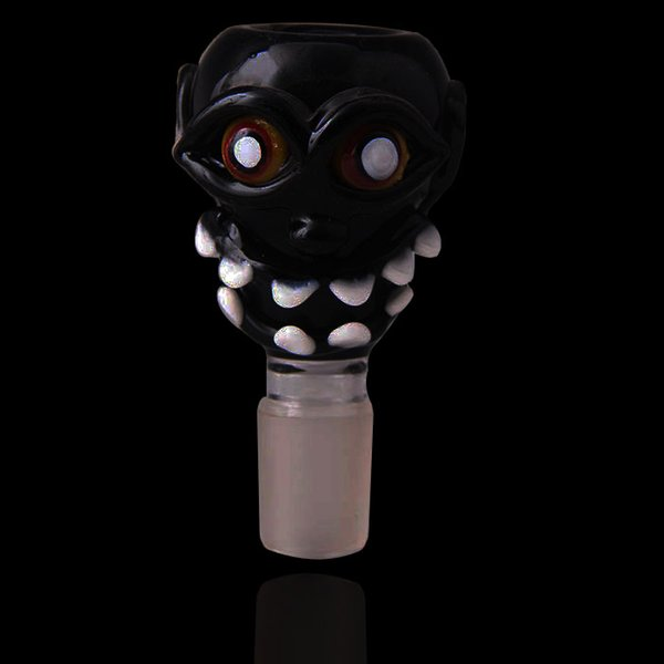 Devil Face Design 18.8mm Size Glass stem Joint Glass Pipes For Water Pipes Glass Bongs Free Shipping With Factory Sale directly