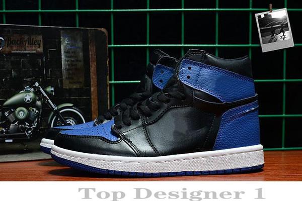 Nuevo 1 OG Spider-Man Banned Wide Toe Chicago 1s Royal Blue mientras zapatillas de baloncesto zapatillas Shattered Backboard pero el diseñador deportivo AA2