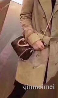 SPEEDY shoulder M61252 Mini cute handbag leather shoulder cross bags 16cm Female NANO bucket brown flower mini pillow CLUCH BAG