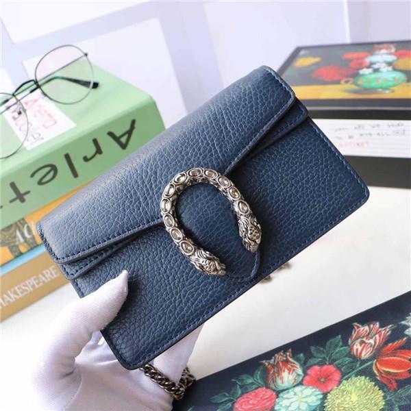 top popular Hot Sale Mini Brand Leather Slant Bag Single Shoulder Bag Tiger Head Button Crystal Decoration designer handbag wallet 2019