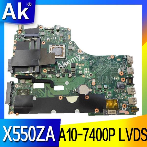 AK X550ZA Scheda madre del computer portatile per ASUS X550ZA X550ZE X550Z X550 K550Z X555Z VM590Z Test scheda madre originale A10-7400P LVDS GM