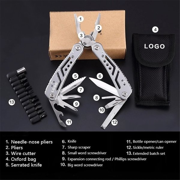 Multi Plier Knife tool wrench Outdoor Survival Hand Tools Screwdriver Kit Portable Stainless multitool Pocket Folding Cycling Knife pliers