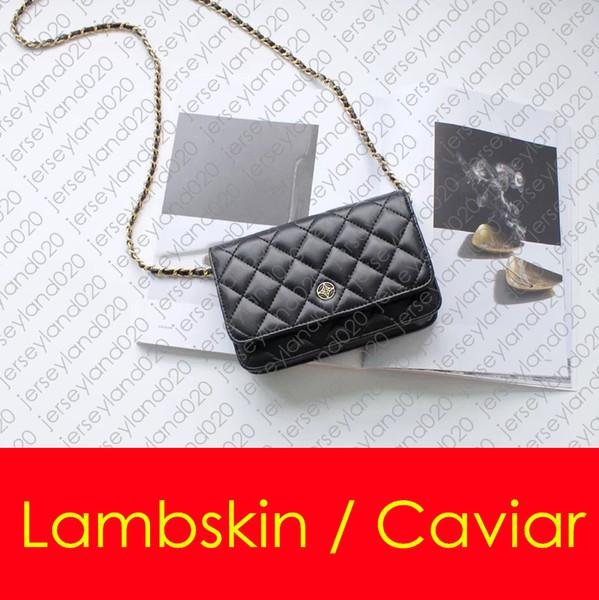 19cm wallet de igner fa hion women handbag clutch mini ingle flap on chain houlder bag mall cro body me enger bag woc caviar leather
