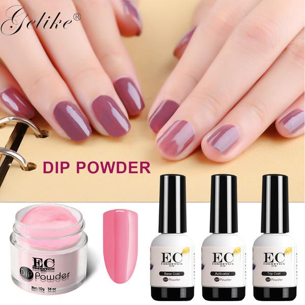 Dipping Powder French Tray Nail Gel Polish Organic No Uv Light Base/Top Coat Diy Manicure Colors Designs System Shop Buy