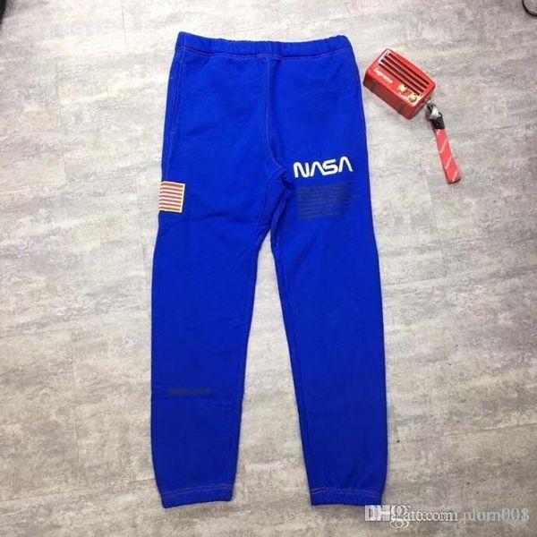 19SS Héron Hiver Preston Série NASA Vêtements De Travail Sportswear Astronautes Entrejambe Pantalon Décontracté Pantalon Hip Hop Haute Qualité Mâle / Femelle