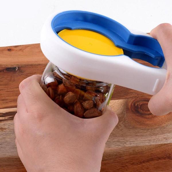 4 In 1 Handy Anti-slip Can Lid Screw Opener Bottle Opener For Beer Bottle Jar Opener Kitchen Cooking Gadgets Accessories