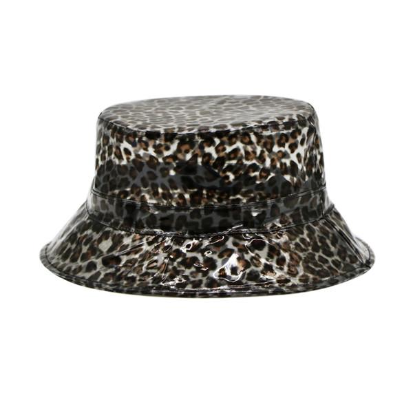 Cappello estivo da donna con visiera in leopardo in pvc con visiera trasparente per donna Cappello impermeabile con visiera in plastica per la protezione della pioggia