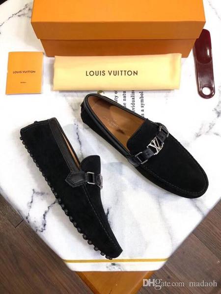 20FW 37-46 hommes en cuir de chaussures de sport de luxe respirante Marques Tendance classique confortable mocassins élégant Plus Size hommes YETC5
