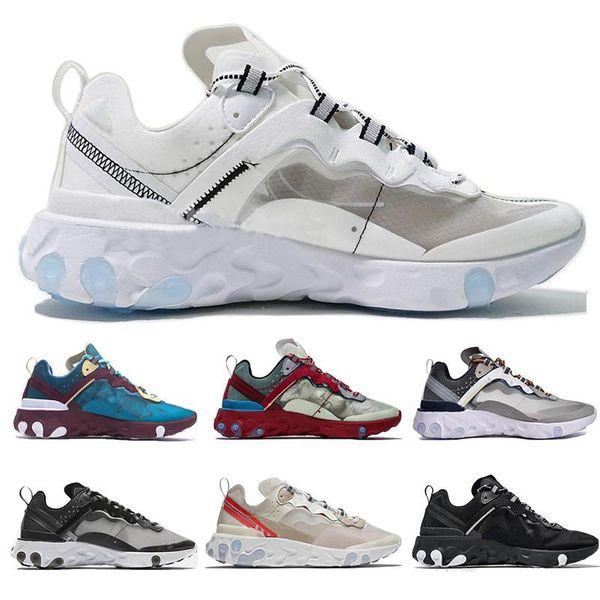 Cheap Epic React Element 87 Undercover Men Running Shoes For Women Designer Sports Mens Trainer Shoes Black Sail Light Bone Sneakers 36-45