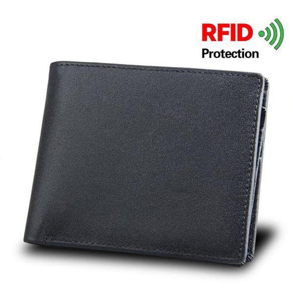 Mr.ylls Rfid piccolo portafoglio uomo in vera pelle breve portafogli carta d'identità titolare di marca borse di alta qualità design moneta maschile creditid