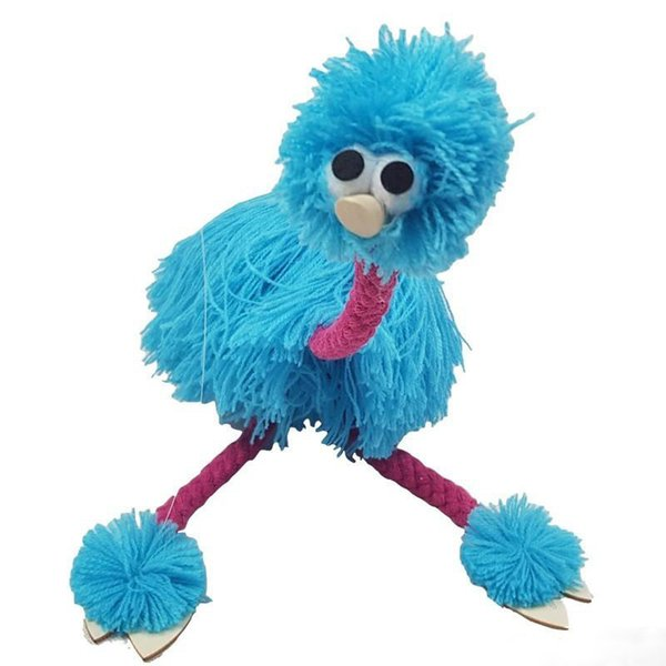 Hand Puppets Toys Cute Improving Limbs Coordination Ability Plush Toys Reduce Pressure Ostrich Shape Marionette Doll Muppets Funny