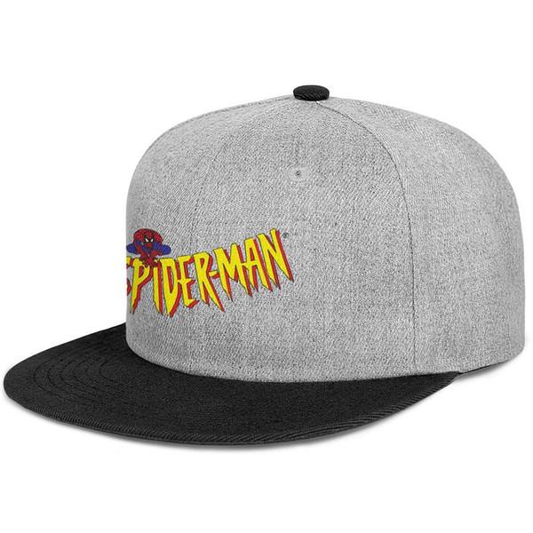 Donatılmış erkek ve kadın vizör kapağı Örümcek Adam logosu sarı Düz Kenarlı Kenarlı Hip Hop Snapbacks şapkalar özel Plaj Şapka