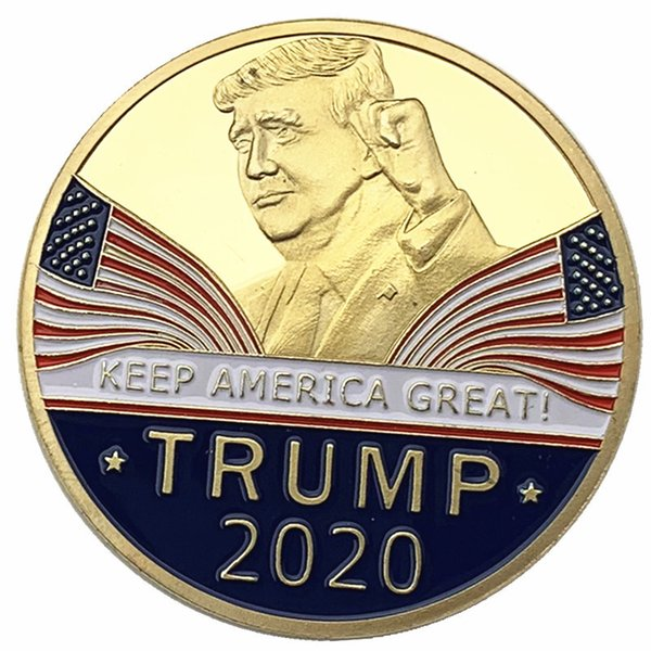 best selling Donald Trump Commemorative Coin 2020 American President Gold Coins Silver Badge Keep America Great US Election Supplies