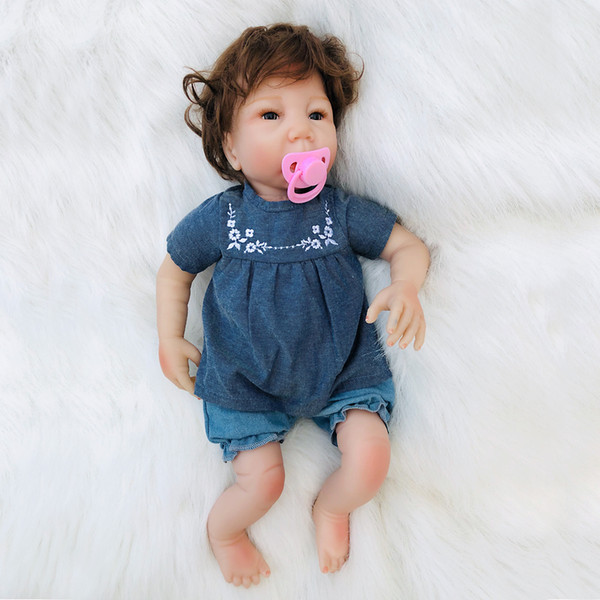 New Arrival 18inch Reborn baby doll 45cm Silicon Vinyl bebe Reborn Dolls lifelike Toys for Children Birthday Gift OtardDolls