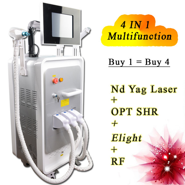 SHR IPL E-light Hair Removal laser machine elight skin rejuvenation system Yag Laser Pigment Wrinkle Tattoo Removal RF nd yag tattoos