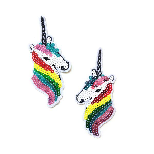 Flash lantejoula ~ Unicorn fantasia cavalo grego pegasus 70 s retro applique ferro no remendo 50 p / l