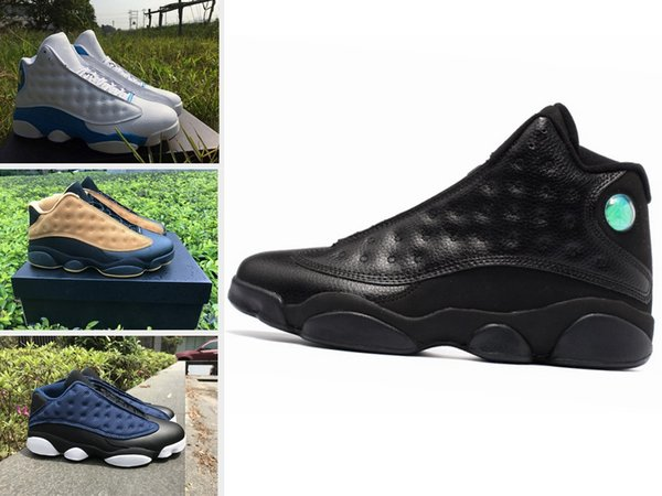 13s mens shoes Cap and gown Atmosphere Grey DIRTY BRED CHICAGO HYPER ROYAL GREY TOE BLACK CAT OLIVE 13s men sports sneakers
