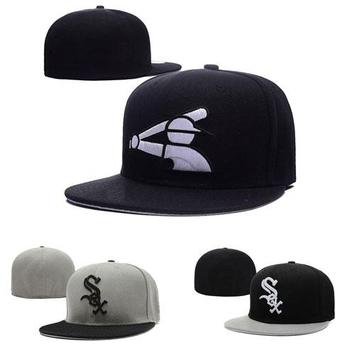 93df4933 Fashion Letter S Cap White Men Fitted Hats Flat Brim Embroiered Brand Designer  Sports Team Fans Baseball Caps Full Closed Chapeu Online