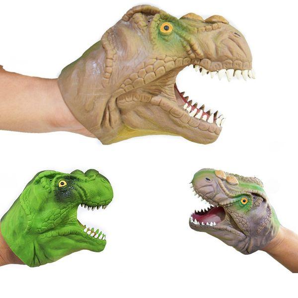 Soft TPR Dinosaur Hand Puppet Tyrannosaurus rex Head Hand Puppet Figure Gloves Toys Children Toy Model Gift
