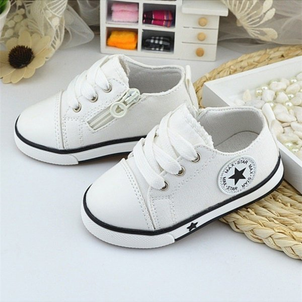 New Baby Shoes Breathable Canvas Shoes 1-3 Years Old Boys 4 Color Comfortable Girls Baby Sneakers Kids Toddler Shoes