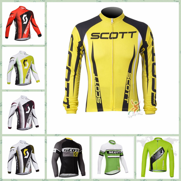 2019 SCOTT team Cycling long Sleeves jersey Anti-UV Cheap custom made 100% Polyester Style New Arrival Hot W30827