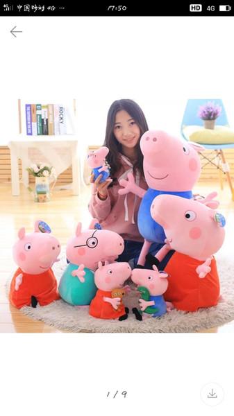 Schwein Puppen 4pcs / set rosa Schwein Frimily Plüschtiere Puppe Puppen Schwein Bauchlage 3D Plüsch Puppe Kinder schlafen Spielzeug