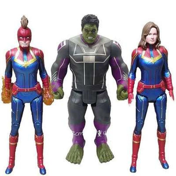 2019 Filme Capitão Marvel Carol Danvers Figura de Ação Avengers Endgame 12