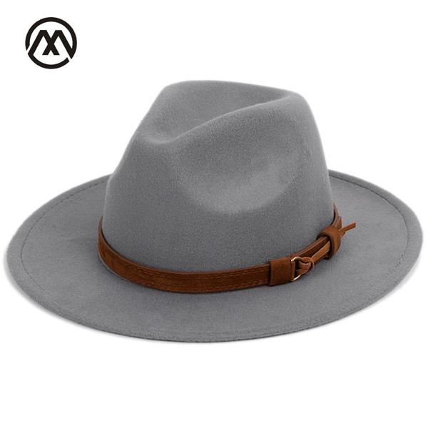 get new undefeated x purchase cheap Men'S Fedora Wool Warm And Comfortable Adjustable Large Size 60CM Hats  Unisex Fashion Trend Solid Caps Classic Bowler Hat Man Ladies Hats Floppy  Hats ...
