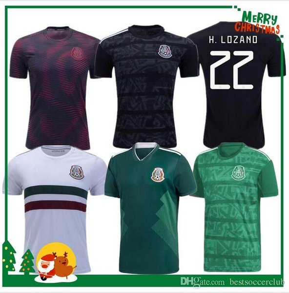 MEXICO 2019 2020 National Team Soccer Training Jerseys H.LOZANO H.HERRERA CHICHARITO RAUL Soccer Jersey gold Cup México football shirt
