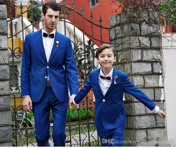 New Style Peak Lapel Two Buttons Cool Sky Blue Wedding Groom Tuxedos Men Suits Wedding Prom Dinner Best Man Blazer(Jacket+Pants)
