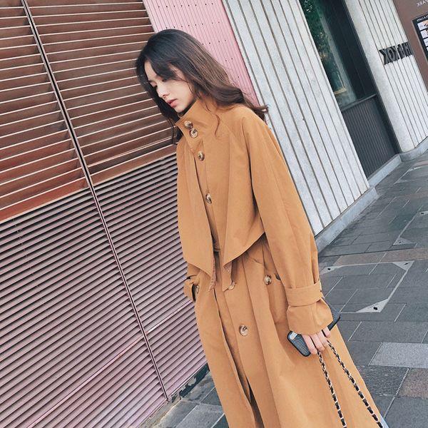 tvvovvin spring autumn fashion windbreaker female new temperament casual trench coat for women wild cotton women clothing c916