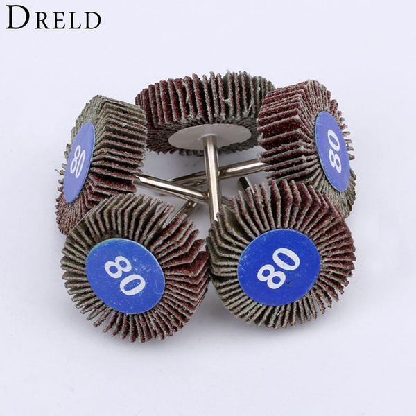 best selling wheel 5Pcs Dremel Accessories Sandpaper Sanding Flap Wheels Sanding Disc Set Shutter Polishing Wheel For Rotary Power Tools