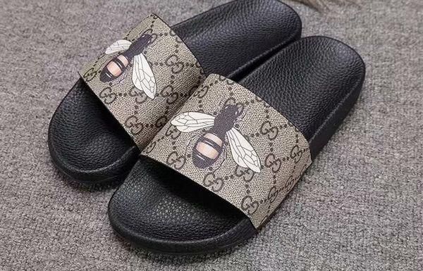 Europeo 2019 vendita calda sandali del progettista di marca piatta famosi sandali degli uomini di stile caldo di moda sandali donna taglia 35-45GNB59