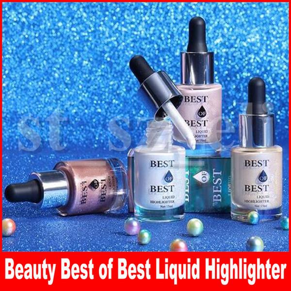 Beauty Face Makeup Best of Best Illuminator Liquid Highlighters 4 Color Bronzers Body Make Up Cosmetics 15ml