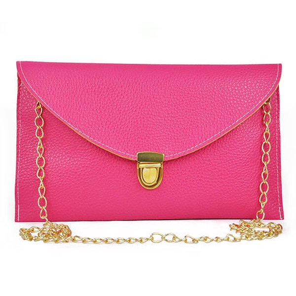 Envelope Clutch Purse Lady Handbag Messenger Tote Shoulder Hand Bag - Rose #94289
