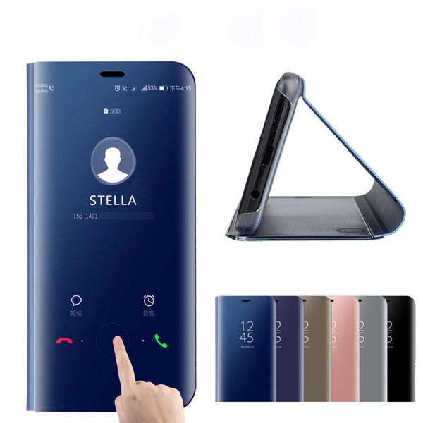 Luxus smart spiegel telefon case für samsung galaxy note 10 plus 9 s10 plus s9 s8 a10s a20s a20e a30s a40 a50s a60 a70 a80 a90 flip abdeckung