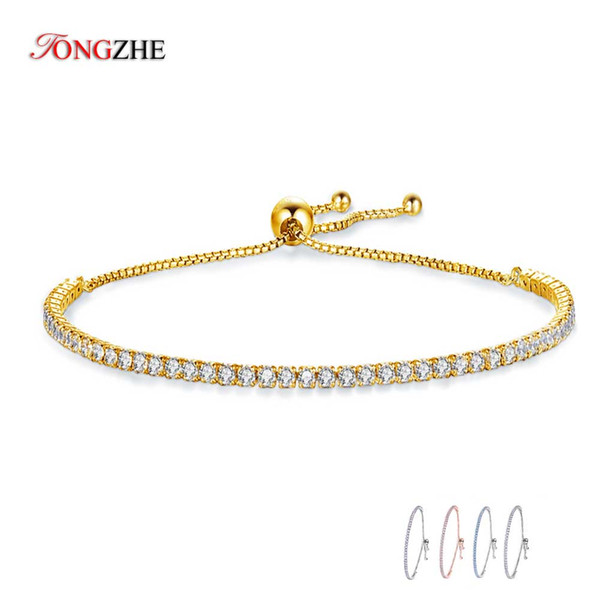 """KALETINE Charms Bracelets For Women 925 Sterling Silver Blue Pink White CZ Tennis Beads Link Rose Gold Luxury Mens Jewelry 18"""""""