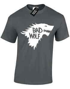 BAD WOLF MENS T SHIRT GAME OF JON SNOW TYRION THRONES INSIRED DEADPOOL FUNNY