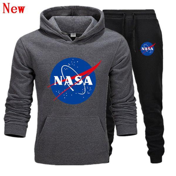 Designer de moda NASA Treino Primavera Outono Casual Marca Unissex Sportswear Dos Homens Ternos de Pista de Alta Qualidade Hoodies Roupas Masculinas QJ13