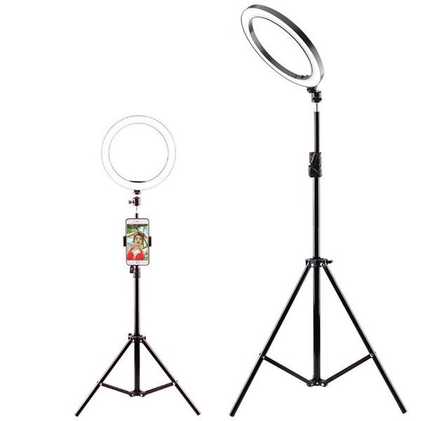 Diamètre 26cm Lightdow Dimmable LED Studio Caméra Anneau Lumière Photo Téléphone Lampe Vidéo Avec Trépieds Selfie Bague Anneau Remplir La Lumière