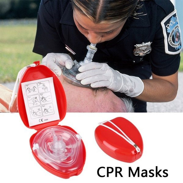 Professional First Aid CPR Breathing Mask Protect Rescuers Artificial Respiration Reuseable With One-way Valve Tools DC275