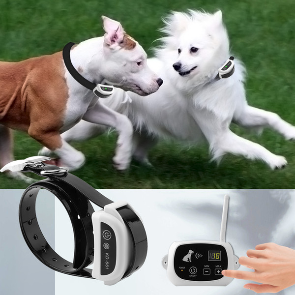 emote pet training Wireless Electric Fence Waterproof Rechargeable Dog Training Collar Electronic Shock Remote Collar Dog Containment Sy...