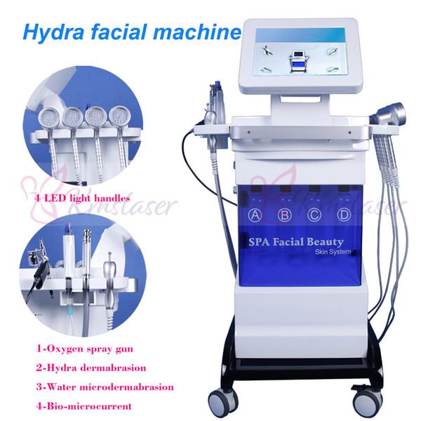 8 en 1 microdermabrasion hydra facial machine Eau Dermabrasion Hydro Oxygène Jet Peeling Ultrasonique spa facial Hydra Photo luminothérapie Ma