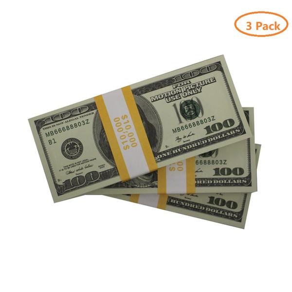 3 пакет 100 старых dolars (300pcs)