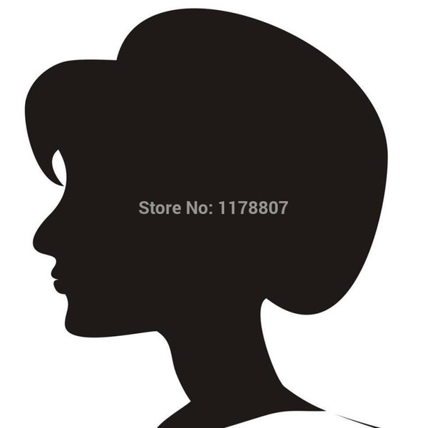 HotMeiNi Wholesale 20pcs/lot Bob Hairstyle Silhouette Sticker Car Rear Truck SUV Door Kayak Art Wall Etc High Vinyl Decal 8 Colors