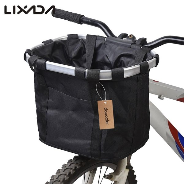 Lixada Basket Pouch Bicycle Aluminum Alloy Pet Cycling Top Tube Frame Front Carrier Bag Pet Carrier