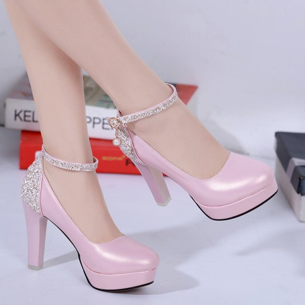 new popular Free sample china wholesale new fashion lady shoes Pink platform samples high heel shoes for women