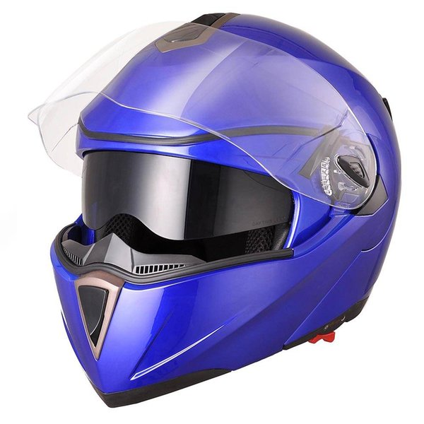 Helm Motorrad offene Gesichtskapazität für Motocicleta Cascos für Moto Racing Jiekai Motorrad Vintage Helme mit Doppellinse