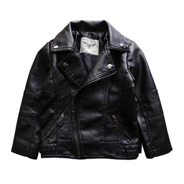 Neue 2019 Herbst Winter Pu Leder Kinder Jacke Kinder Designer Kleidung Mädchen Jacken Kinder Mäntel Kinder Outwear Mädchen Kleidung Einzelhandel A7422