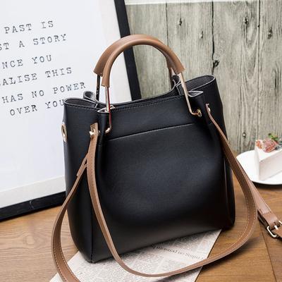 Brand design Women Leather handbag large capacity Woman Casual Tote Bag lady Messenger Shoulder Bag Big Totes bolsa black